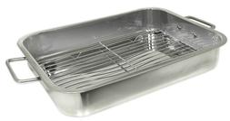 BIG Stainless Steel Heavy Duty 16 x 12  inch BBQ Meat Marina