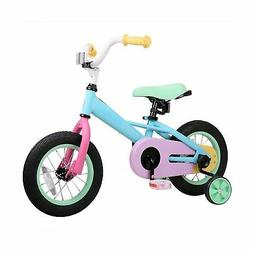 JOYSTAR Macaron 12 Inch Kids Bike for 2 3 4 Years Girls, Chi