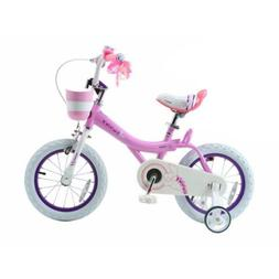5b0bbbc5227e Royalbaby Bunny Girls Bike 12 Inch Wheels Basket Training Fo
