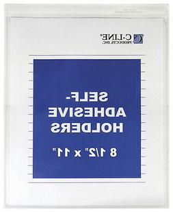 C-Line Self-Adhesive Sheet Holders, 9 x 12 Inches, Pack of 5