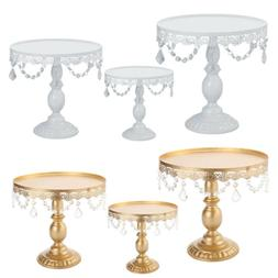 "Cake Stand w/ Crystals 8"" 10"" 12"" Wedding Party Cupcake Disp"