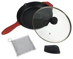 12-Inch Cast Iron Skillet Set , Including Large & Assist Sil