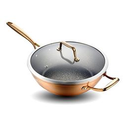12 inches Aluminum Nonstick Wok Stir Fry Pan with Induction