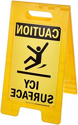 """Caution - Icy Surface"" Folding Floor Sign By SmartSign 