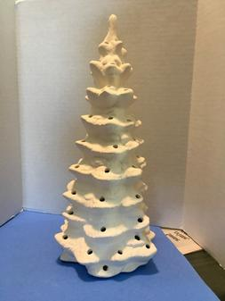 Ceramic 12 inch  Christmas Tree Ready to Paint, Christmas v