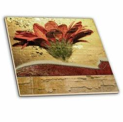 Ceramic Tile, 12-inch - Flower Photo 3dRose