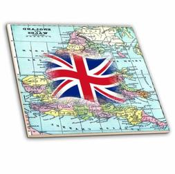 Ceramic Tile Decorative Accent Print Of England And Wales Br