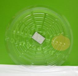 """CLEAR 12"""" inch SAUCER  Reuseable Sturdy Plant Pot Tray Pan"""