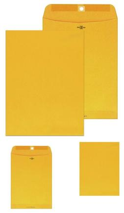 Columbian Clasp Envelopes, 10 X 13 Inches, Brown Kraft, 100