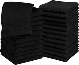 Pack of 24 Cotton Washcloths 12x12 inches for Finger and Fac