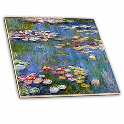 3dRose ct_155655_4 Water Lilies by Claude Monet-Impressionis