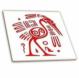 3dRose ct_60619_4 Ancient Mexican Motiff-Ceramic Tile, 12-In