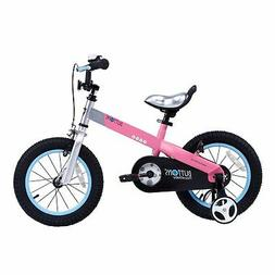 """RoyalBaby CubeTube Matte Buttons 12""""  Bicycle for Kids, Pink"""