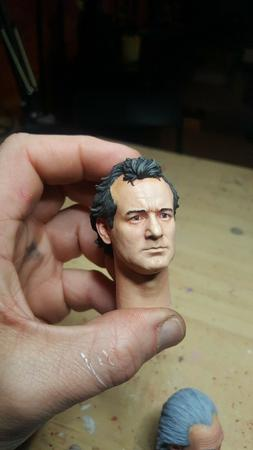 Custom painted or unpainted ghostbusters bill Murray head fo