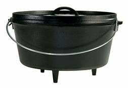 Lodge Deep Camp Dutch Oven - 12 Inch / 8 Quart Seasoned Cast