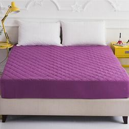 Elastic Waterproof Mattress Topper Cover Bedding Protector 2