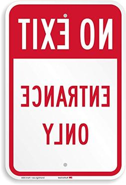 """No Exit - Entrance Only Sign, 18"""" x 12"""""""