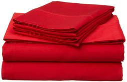 Extra Deep Pocket Solid - Red New Sizes & 1000TC Choose Shee