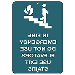 in Fire Emergency Do Not Use Elevators Use Exit Stairs Alumi