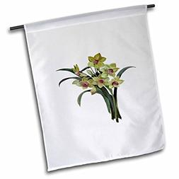 "3dRose fl_243200_1"" Lent Lily Isolated Garden Flag, 12"" x 18"