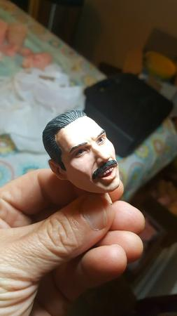 Freddy mercury queen head live aid new painted 1/6 12 inch f