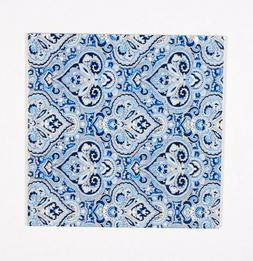 3dRose French Paisley Blue-Ceramic Tile, 12-inch , Multicolo