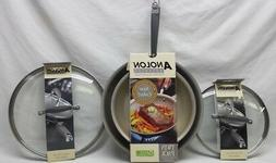 """Anolon Advanced French Skillet Twin Pack 10"""" & 12"""" Pewter Co"""