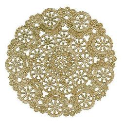 "GOLD FOIL MEDALLION Paper Doilies | 4"" 5"" 6"" 8"" 10"" 12"" Gold"