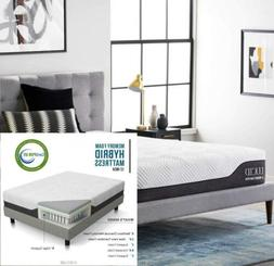 LUCID 12 Inch Full Hybrid Mattress - Bamboo Charcoal and Alo