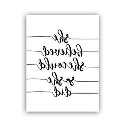 Inspirational Lettering Quotes Art & Pictures,Set of 1 Pri