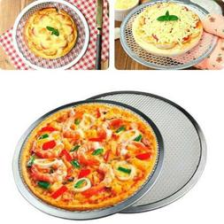 Home  Oven Net Cookware Flat Baking Tray Pizza Screen Plate