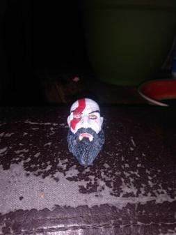 Kratos God of war painted head for 12 inch figure 1/6
