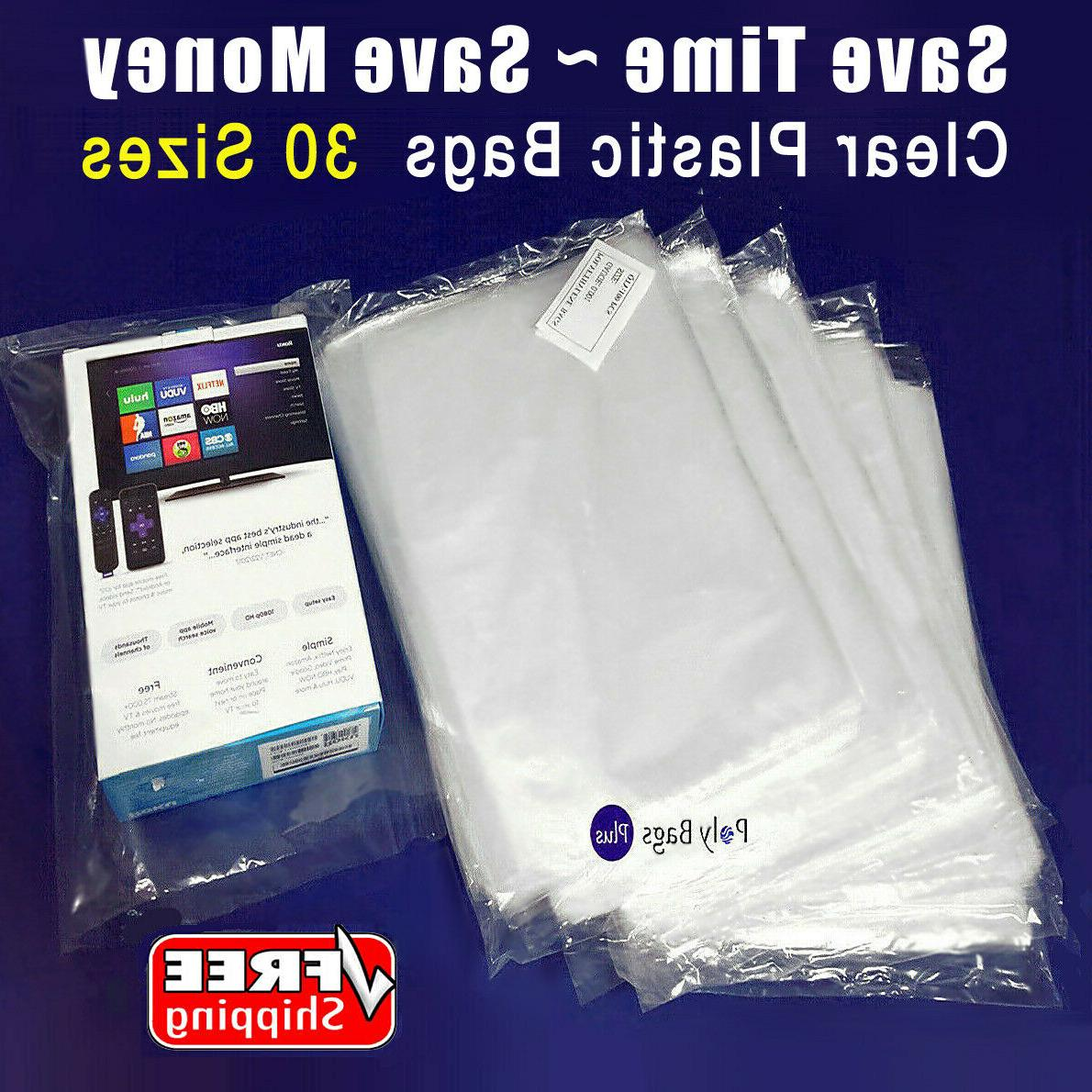 """100 1000 Clear Poly Plastic Bags 7 9 10 x 11 12 x 15 18 20"""""""