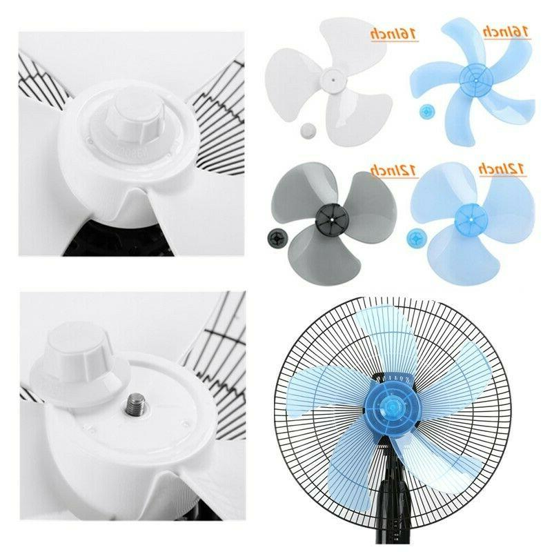 12/16 Inch Fan Blade Leaves+Nut for Standing Fan Table Fanner