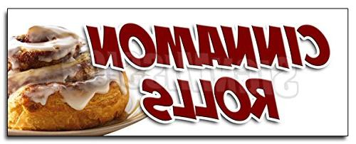 12 cinnamon rolls decal sticker fresh baked