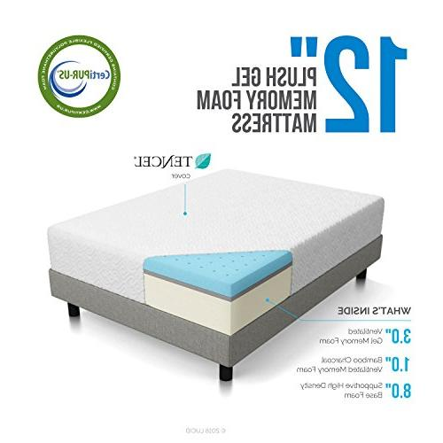 12 Gel Foam Plush Mattress LUCID