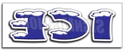 12 ice decal sticker cold