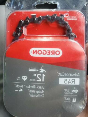 12 in 45 links chainsaw chain