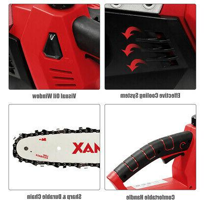 12-Inch Chainsaw with 4.0Ah Lithium-Ion and Fast Charger