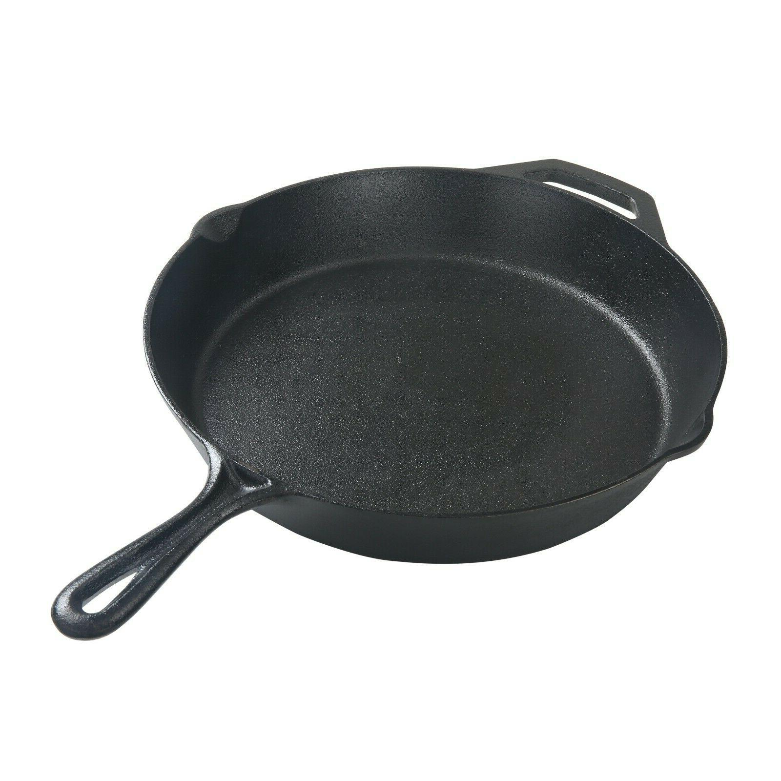 12 Inch Durable Cast Iron Skillet