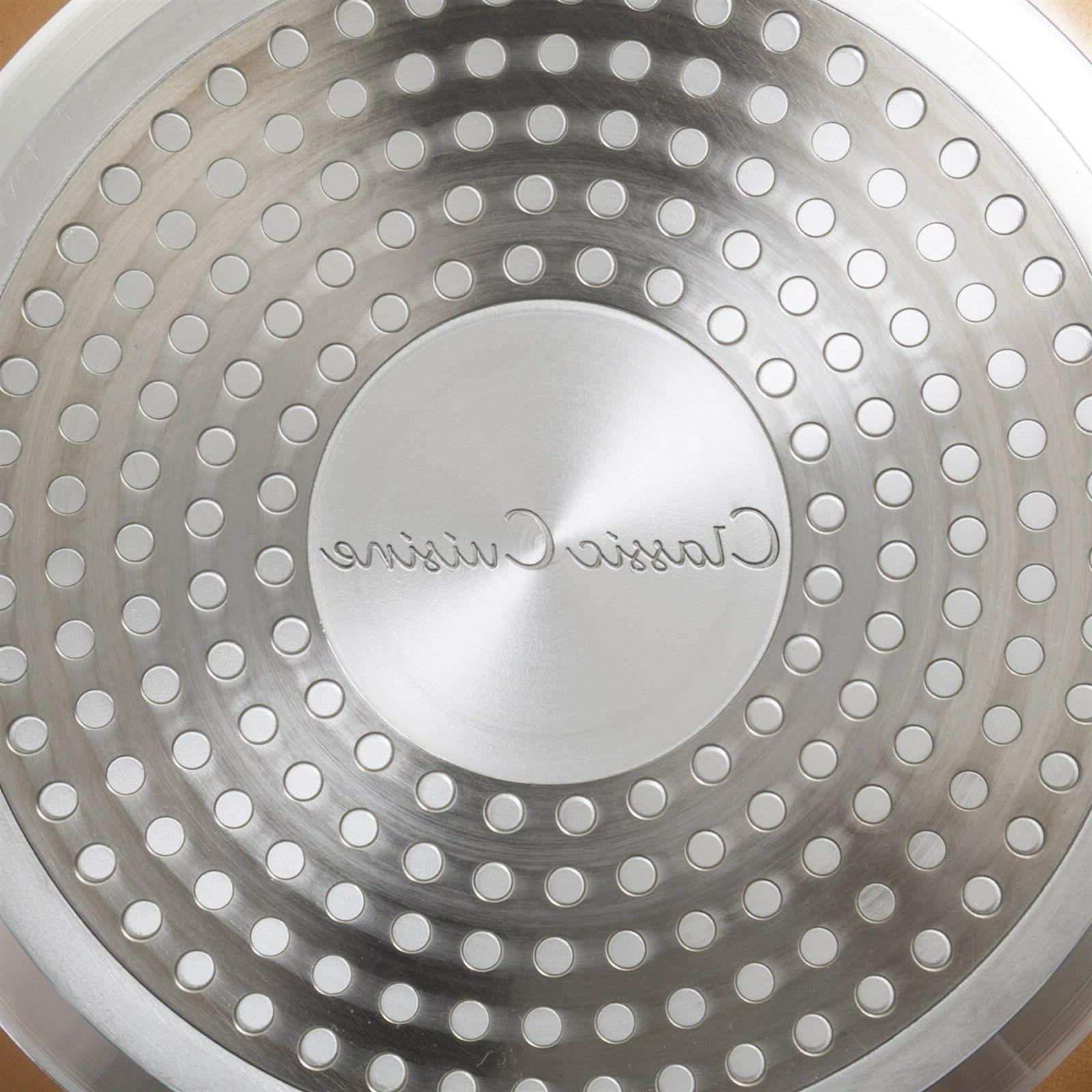 12 Inch Frying with Lid Induction Oven Stove Top Safe