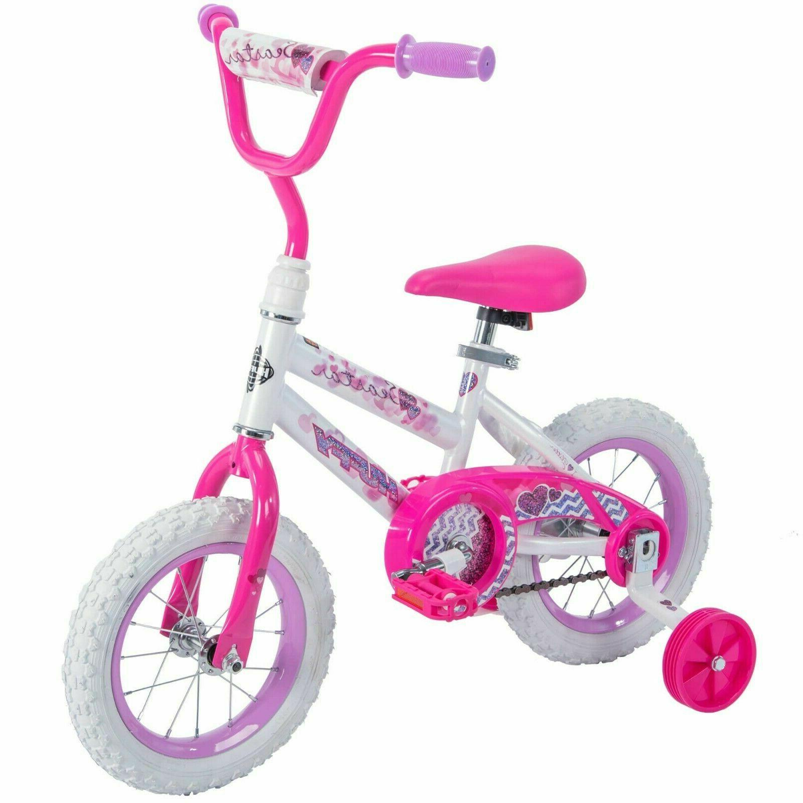 12 Inch Girl's Bike Kids Bicycle With Training Wheels Beginn