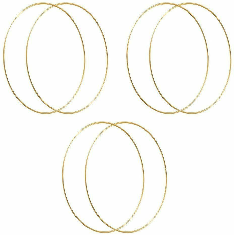 12 inch metal hoops craft gold floral
