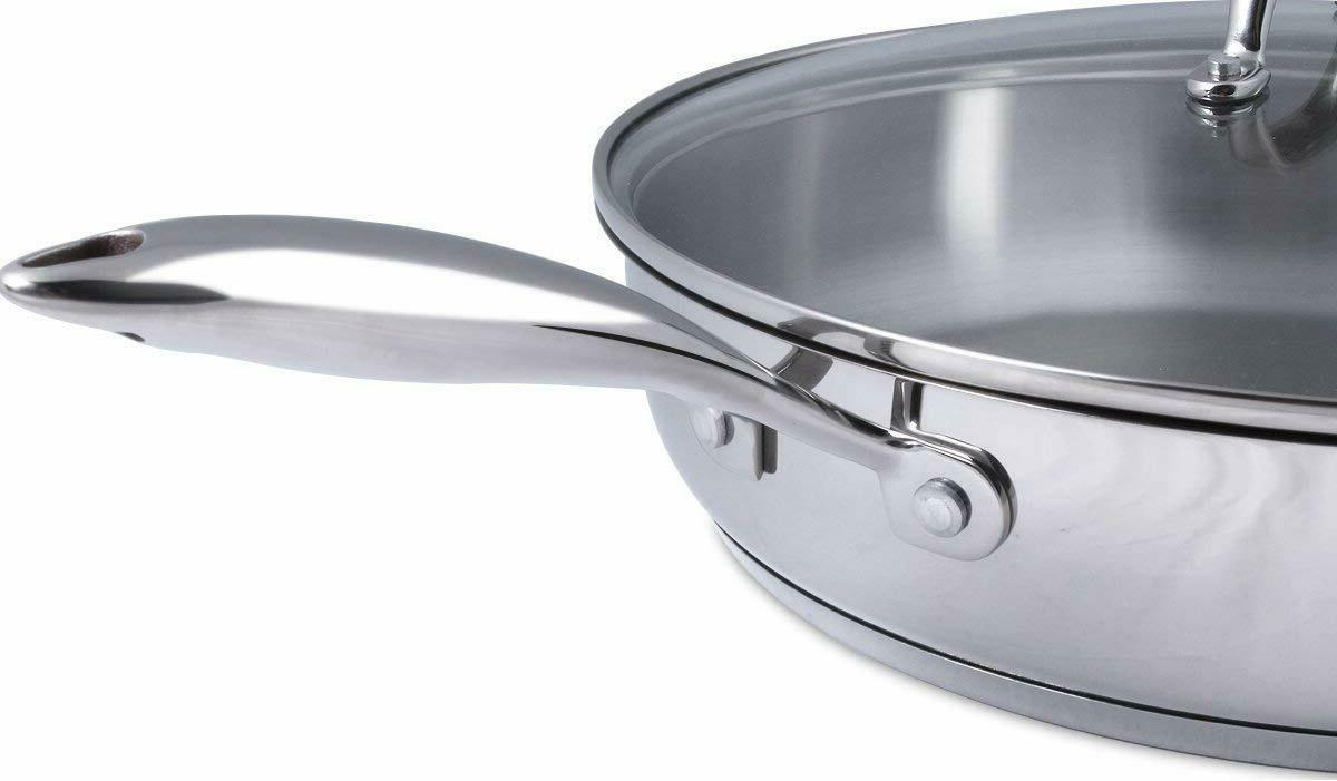 Skillet Stainless Steel Induction Compatible by Utopia Kitchen