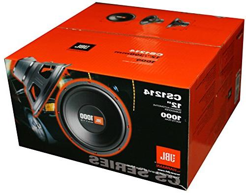 2 JBL CS1214 2000W Car Subwoofers Subs Audio Woofers Ohm