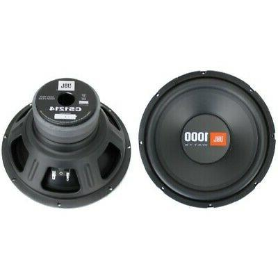 2 cs1214 car subwoofers power