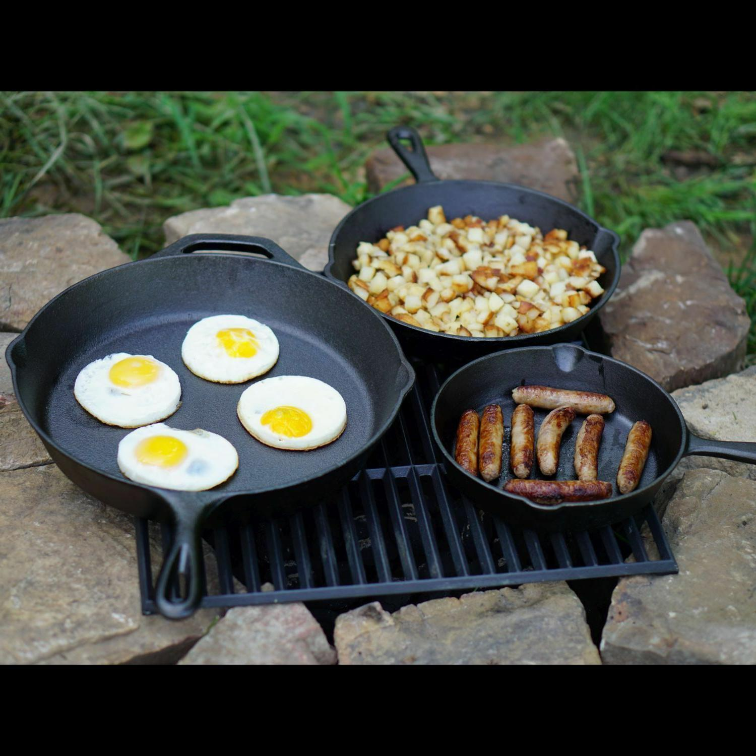 3 IRON Pre 12 Inch Stove Fry Pans Cookware Set
