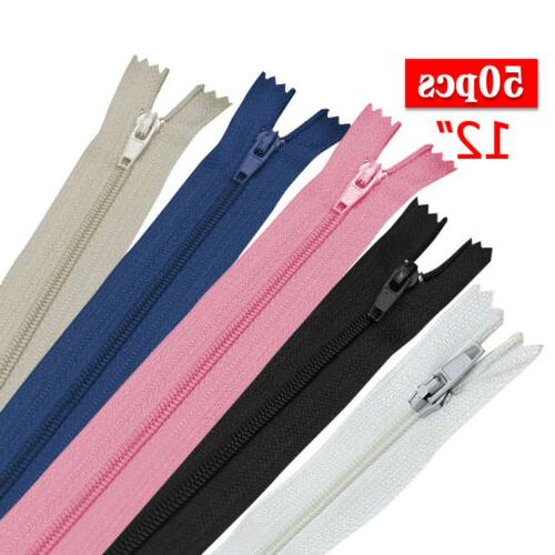 50pc Nylon CLOSE END Zipper Tailor Craft