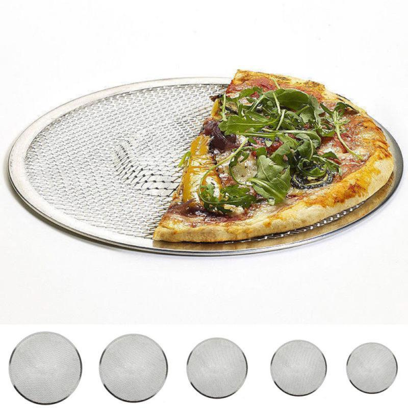 Home  Flat Oven Net Cookware Baking Tray Plate Pan Pizza Scr