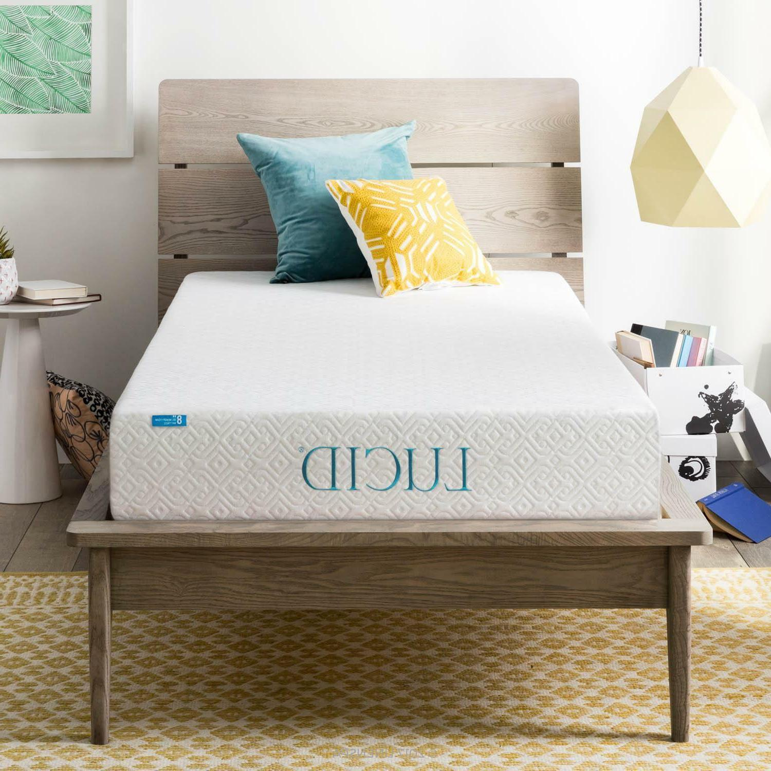 LUCID and 12 Inch Gel Memory Mattress Twin Full King